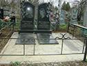оградка для двойной могилы
